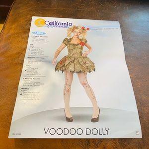 California Costumes Voodoo Dolly EUC NWT SZ S